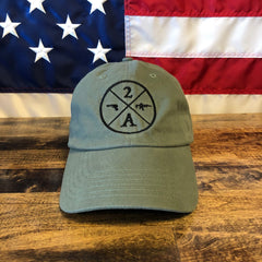 2nd Amendment Guns and Ammo Authentic Green Hat