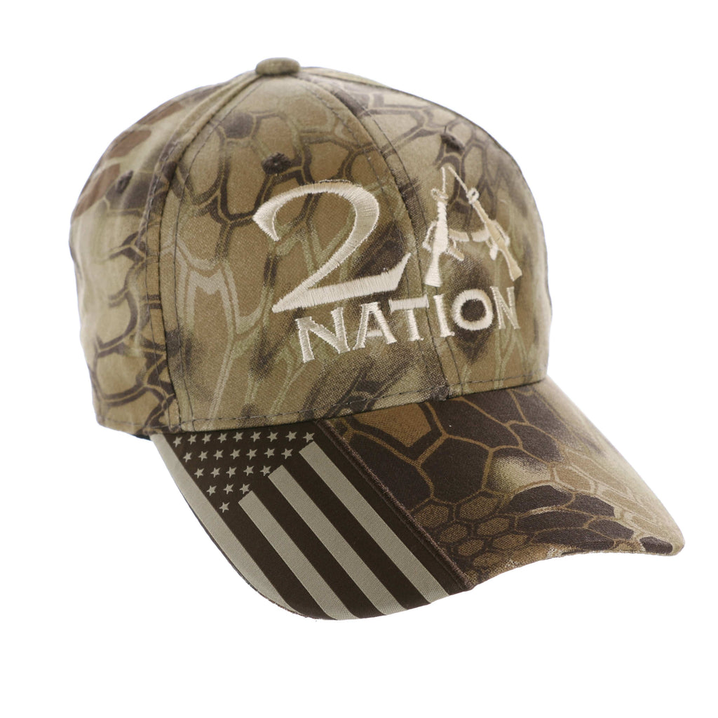 2nd Amendment 2A Nation Beige Kryptek Highlander Hat (O)