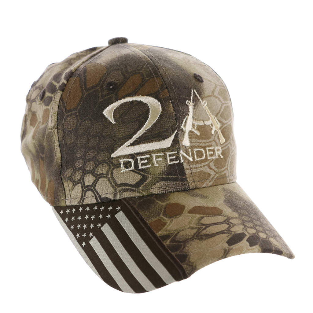 2nd Amendment 2A Defender Authentic Kryptek Camo Hat