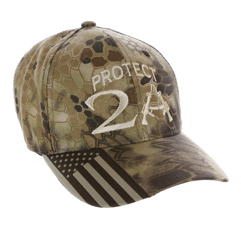 2nd Amendment Protect 2A Beige Kryptek Highlander Hat (O)
