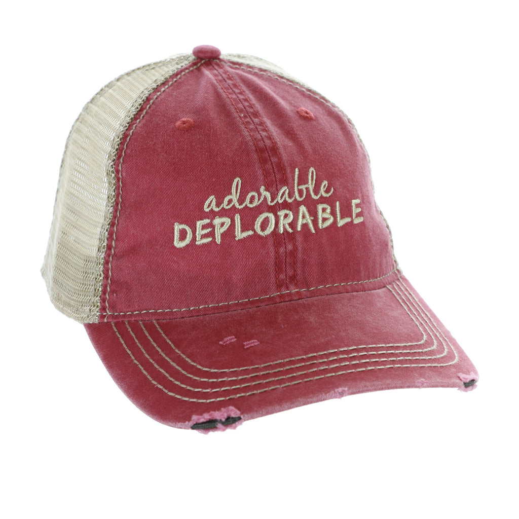 Premium Adorable Deplorable Trump Pink Hat (O)