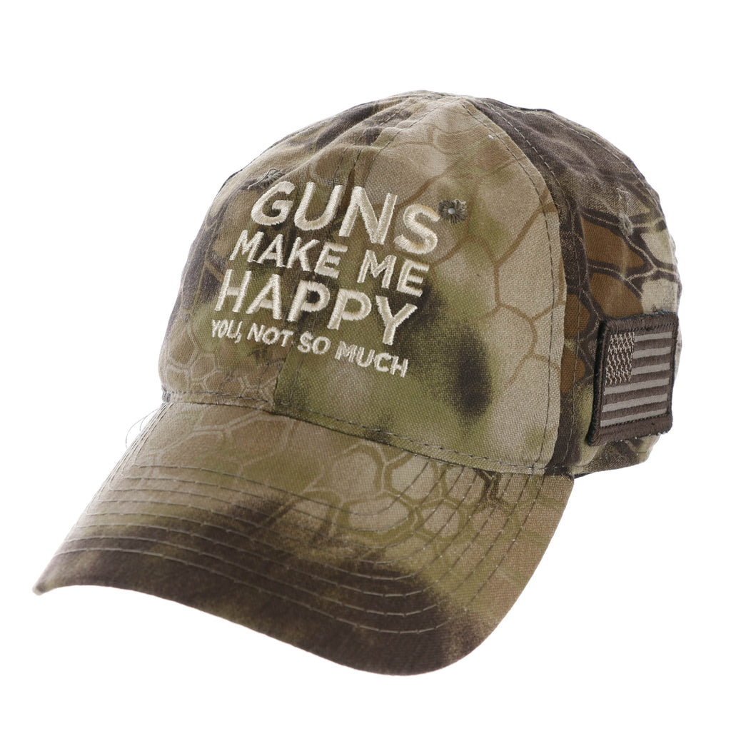 Guns Make Me Happy You Not So Much Kryptek Highlander Hat (O)