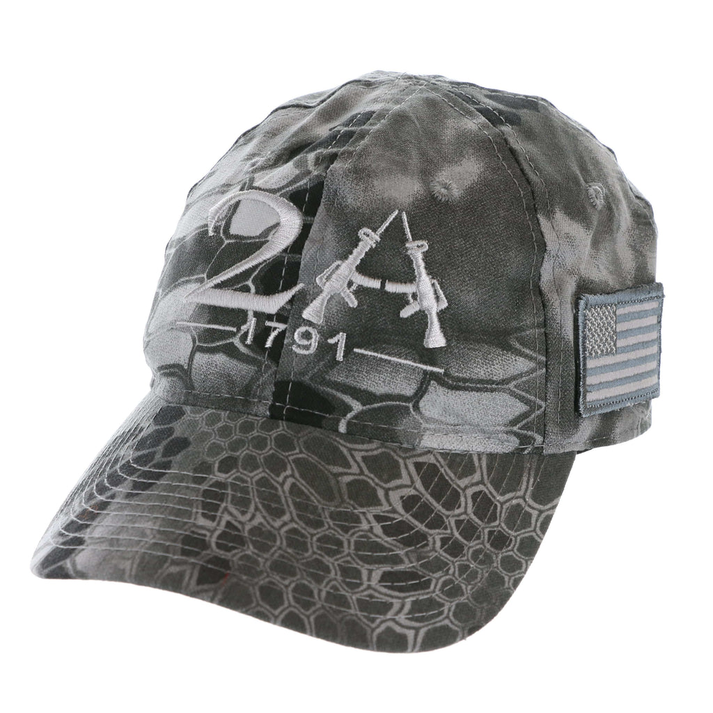The Second Amendment 2A 1791 Kryptek Raid Hat (O)