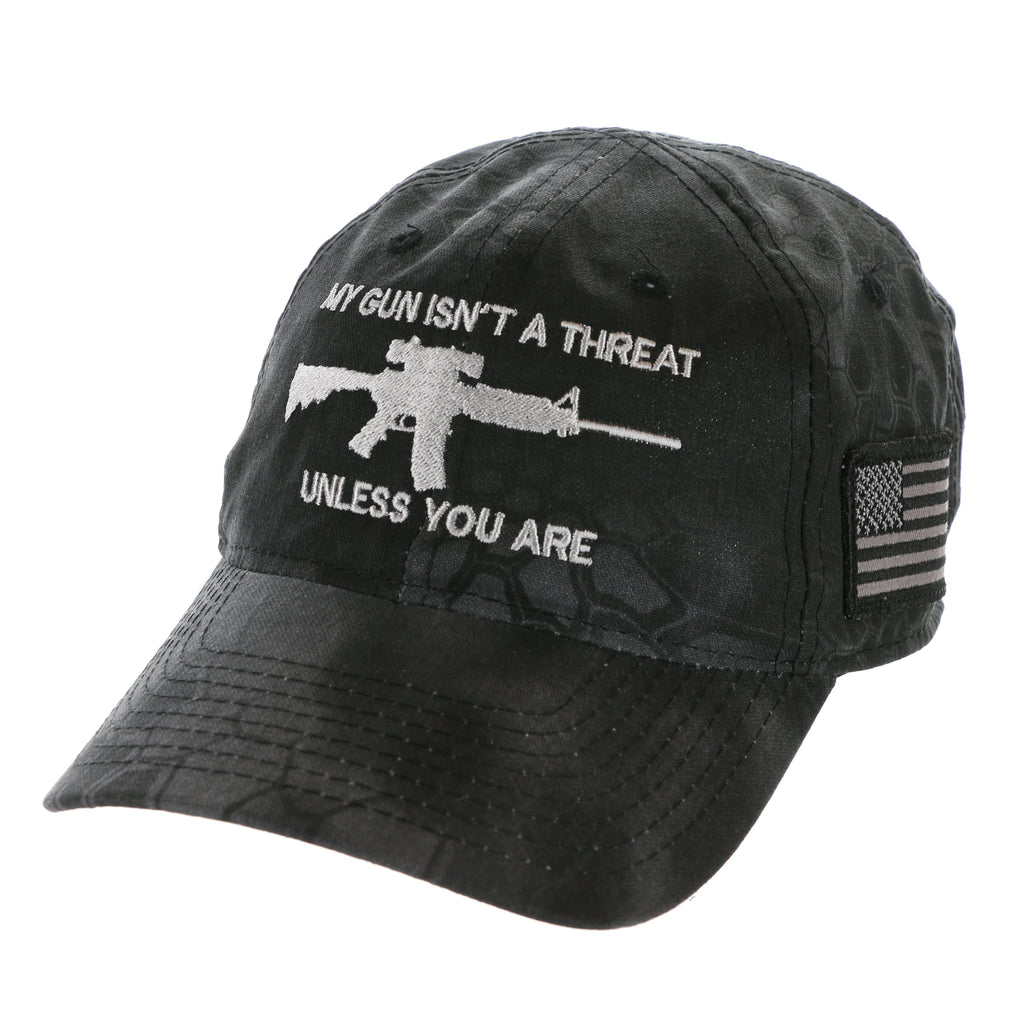 My Gun Isn't A Threat Unless You Are 2nd Amendment Kryptek Hat