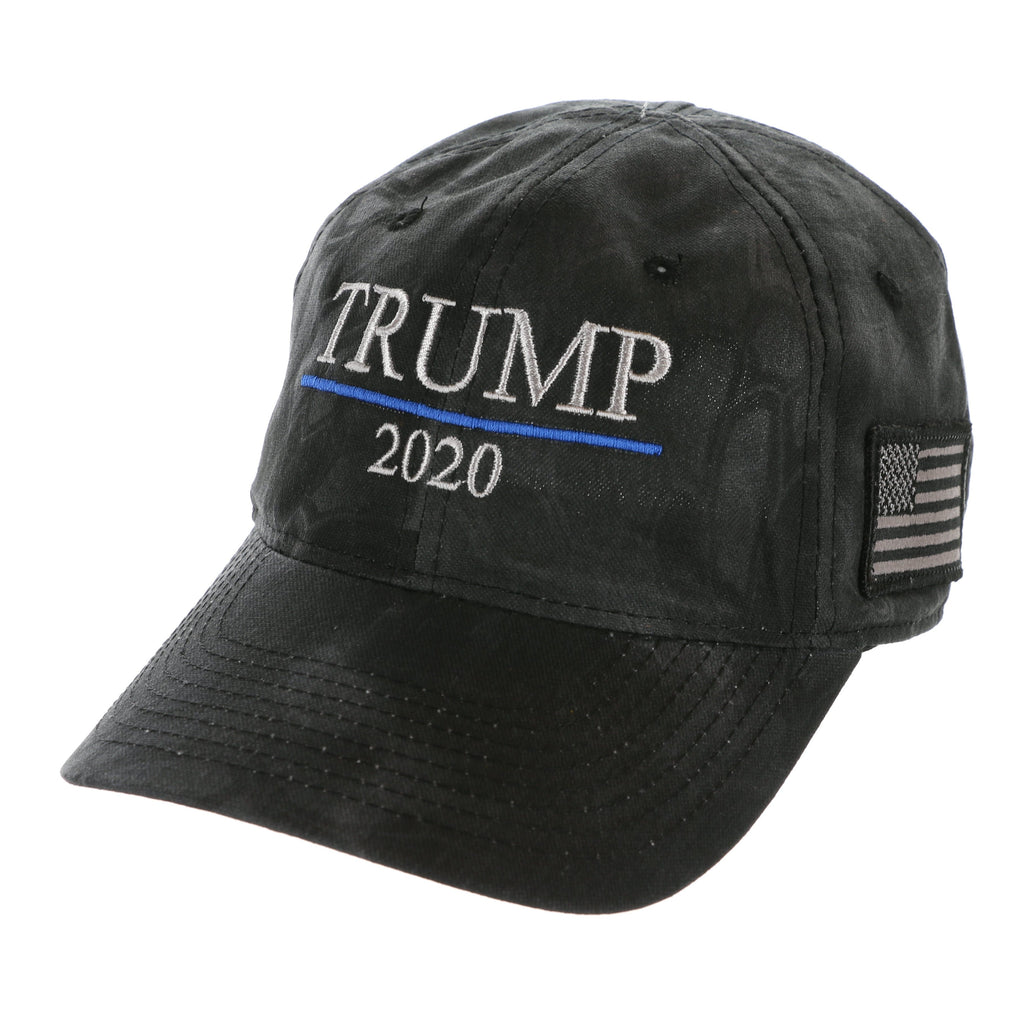Trump Thin Blue Line 2020 - Kryptek Premium Hat - Black, Charcoal