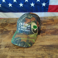 Trump 2020 Mossy Oak Hat - No Bullshit - Camo