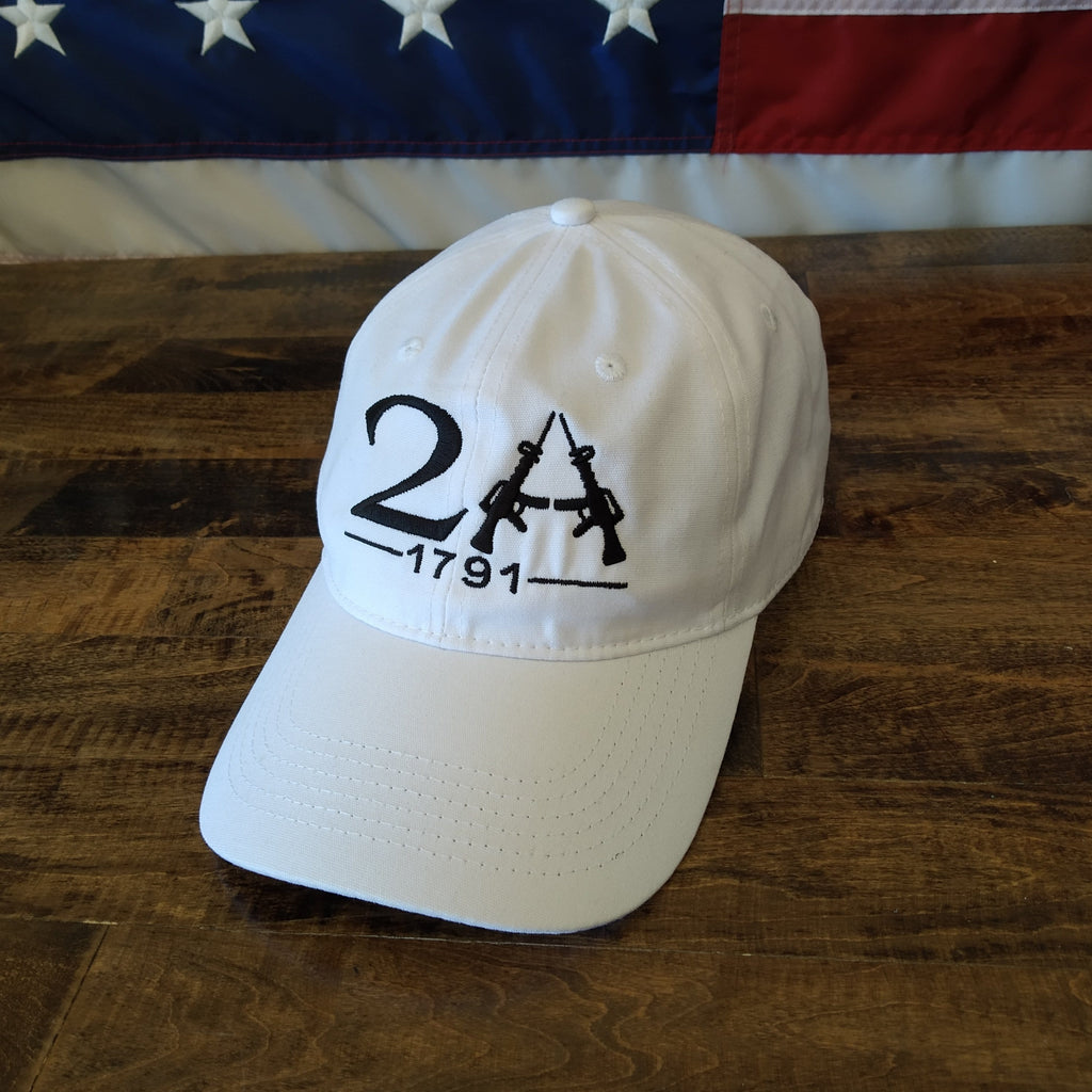 2A 1791 Hat - Second Amendment - White