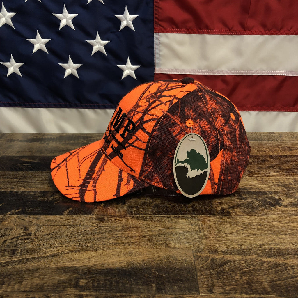 Trump Make America Great Again Mossy Oak USA Orange Camo Hat