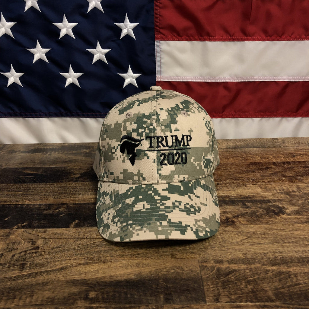 Trump 2020 Hat Digital Camo New Embroidery Design MAGA KAG Hat
