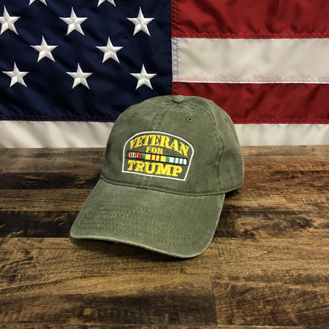 Veterans For Donald Trump USA Patriotic Hat
