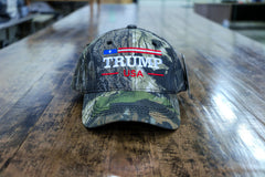 Trump USA Flag Camo Embroidered Mossy Oak Hat