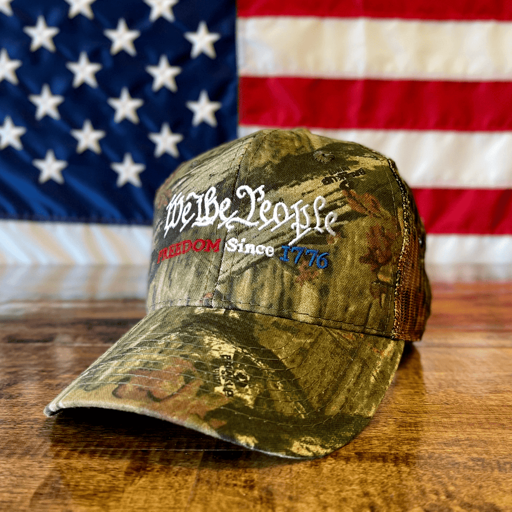 We The People Freedom Since 1776 American Patriot Mossy Oak Camo Hat