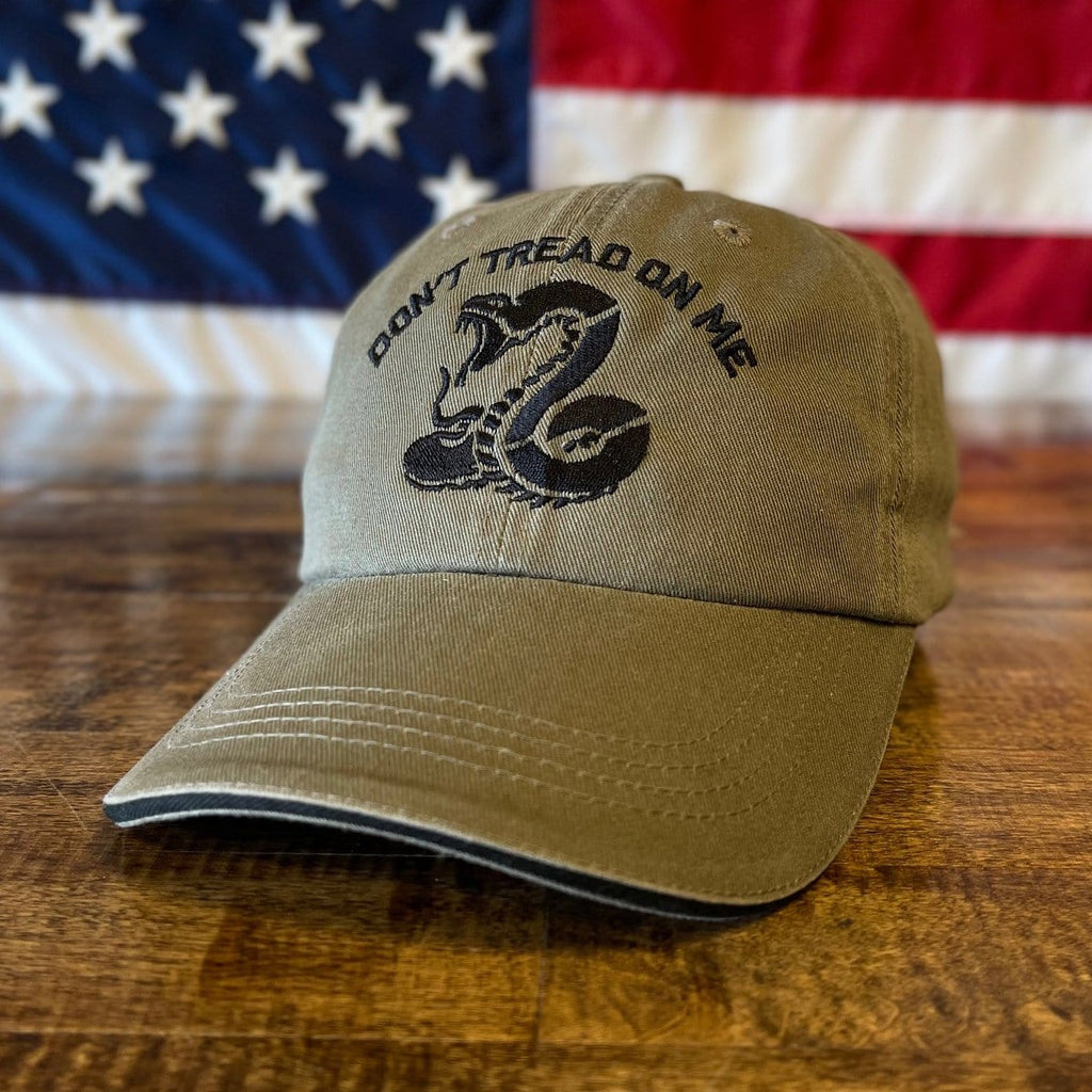 Don't Tread On Me Snake American Patriotic Hat (O)