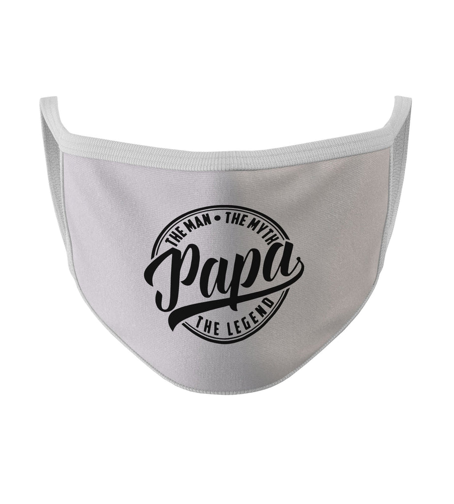 Papa The Man The Myth The Legend New White Color Washable Face Mask (FD20)