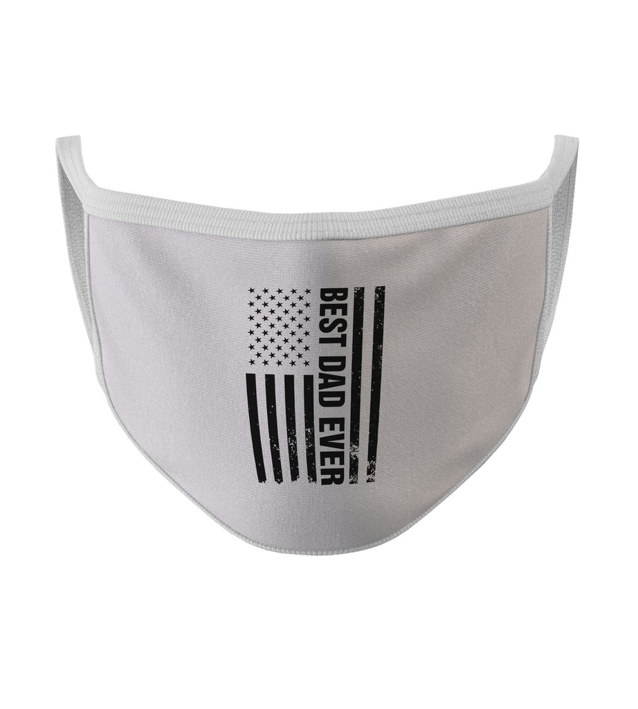 American Flag Best Dad Ever New White Color Washable Face Mask (O)