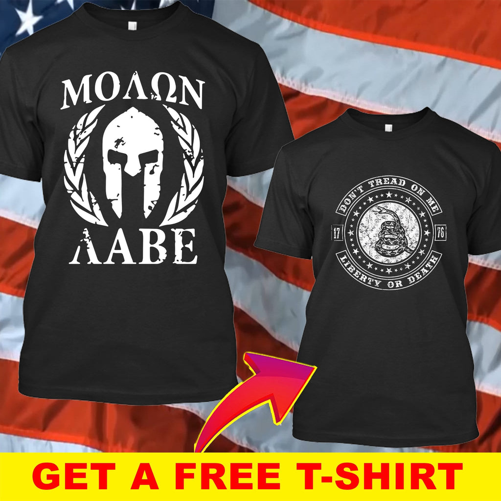 Molon Labe 2nd Amendment T-Shirt ( Free T-shirt )