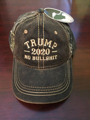 President Donald Trump 2020 No BS Authentic Mossy Oak Hat