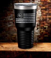 We The People 2nd Amendment Laser Engraved Tumbler (O)