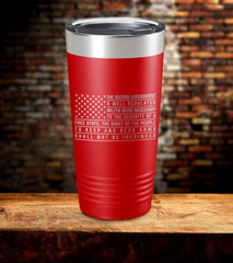 Well Regulated Militia Laser Engraved Tumbler