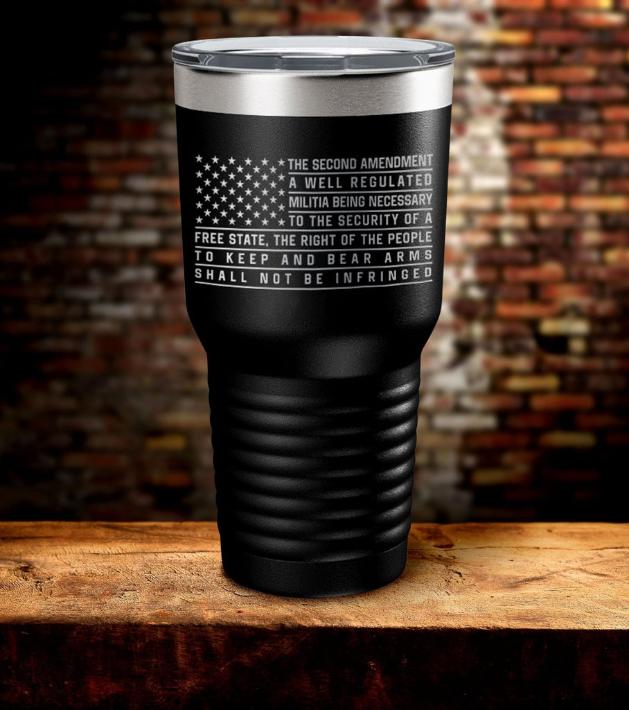 Well Regulated Militia Laser Engraved Tumbler (O)