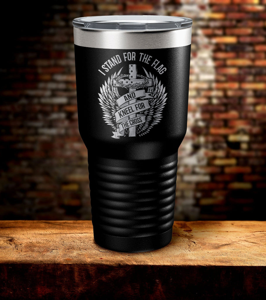 Stand For The Flag Laser Engraved Tumbler (O)
