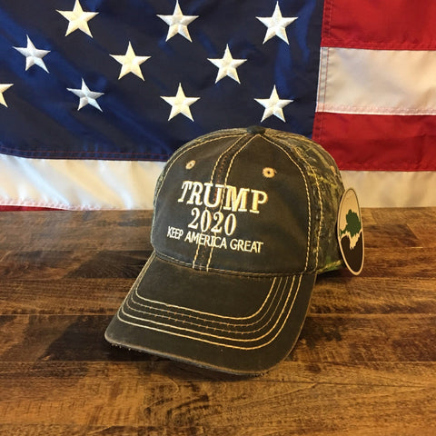 President Donald Trump Make America Great Again Embroidered Mossy Oak Hat