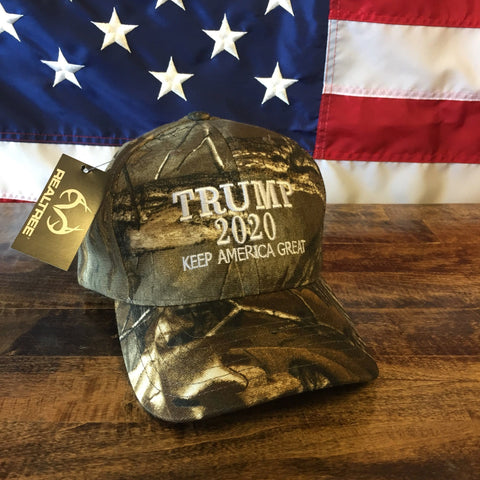 Trump 2020 Keep America Great Authentic Realtree Camo Hat - MADE IN USA