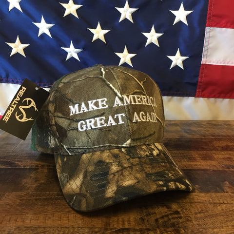 Trump Make America Great Authentic Realtree Camo Hat - MADE IN USA