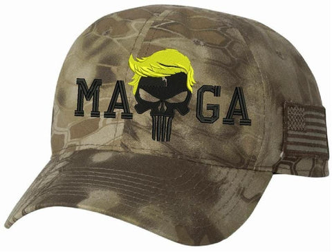Donald trump Punisher Make America Great Again Authentic Camo Hat