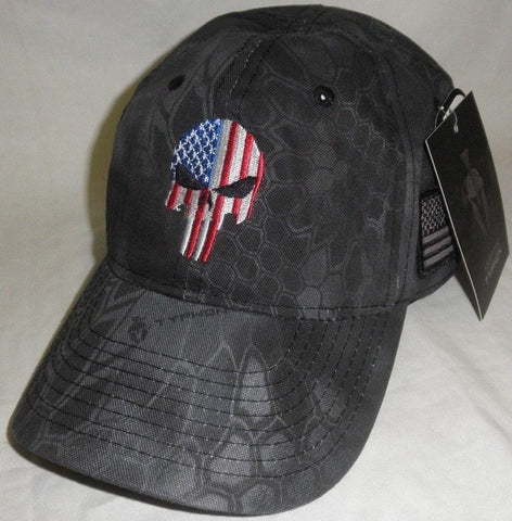 Donald trump Punisher Skull American Flag Authentic Black Hat