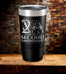 Protect The Second Amendment Laser Engraved Tumbler (O)