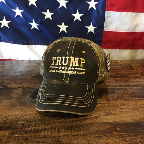Donald Trump Make America Great Real Tree Camo Hat