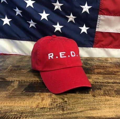 The R.E.D Authentic Patriotic Red Hat