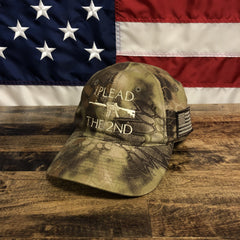 I Plead 2nd Amendment Authentic Kryptek Camo Hat