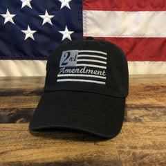 2nd Amendment Black Flag Hat