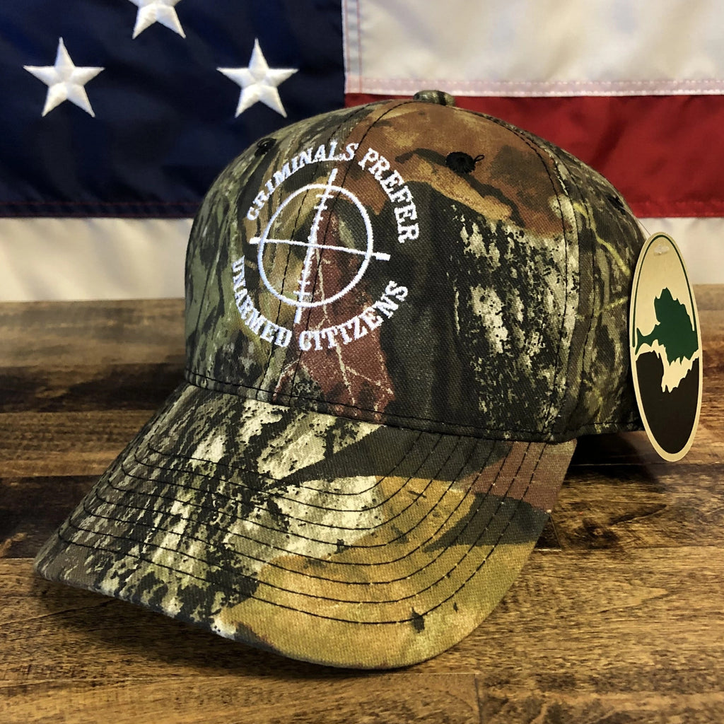 Criminals Prefer Unarmed Victims Camo Hat