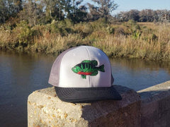 Grey And White Fishing Lovers Premium Hat