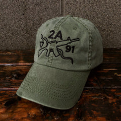 2nd Amendment AR-15 Authentic Green Hat