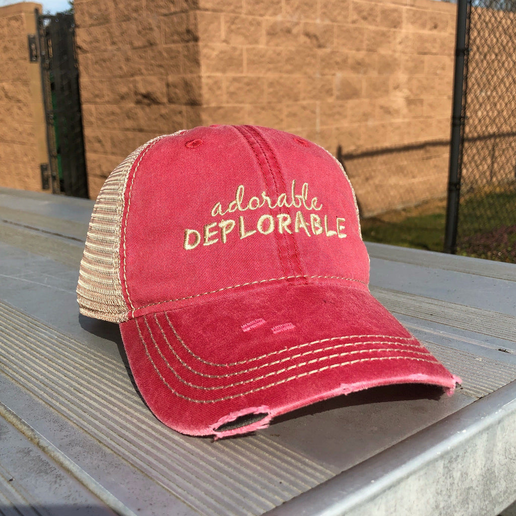 Premium Adorable Deplorable Trump Pink Hat