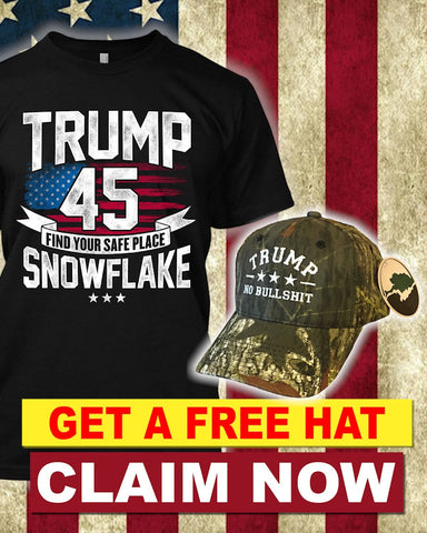 Trump 45 Find Your Safe Place Snowflakes T-Shirt ( Free Mossy Oak Trump Hat)
