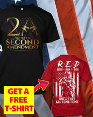 Just Protect The 2nd Amendment T-Shirt (Free R.E.D T-Shirt)