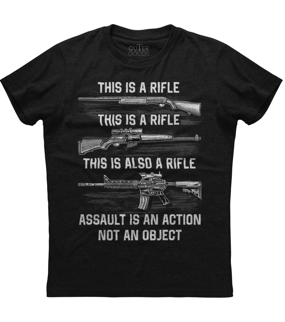 Assault Is An Action Not An Object T-Shirt (O)