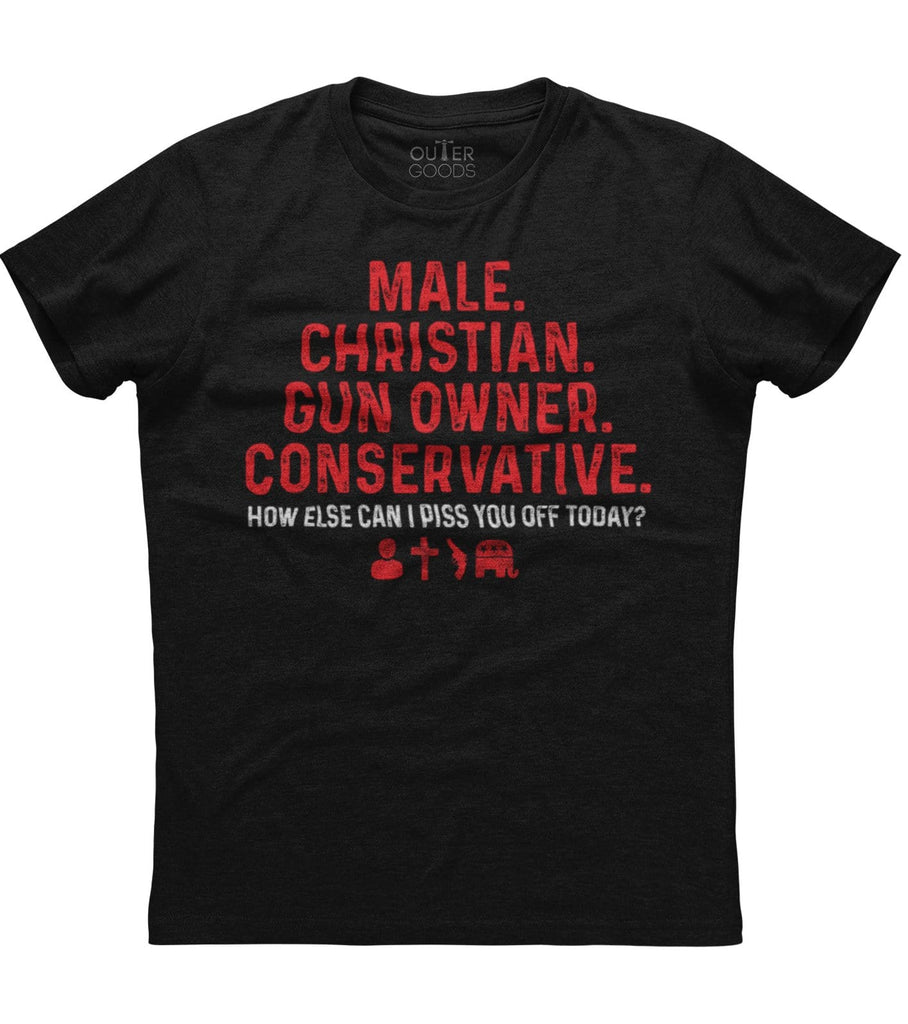 Conservative Christian Gun Owner T-Shirt (O)