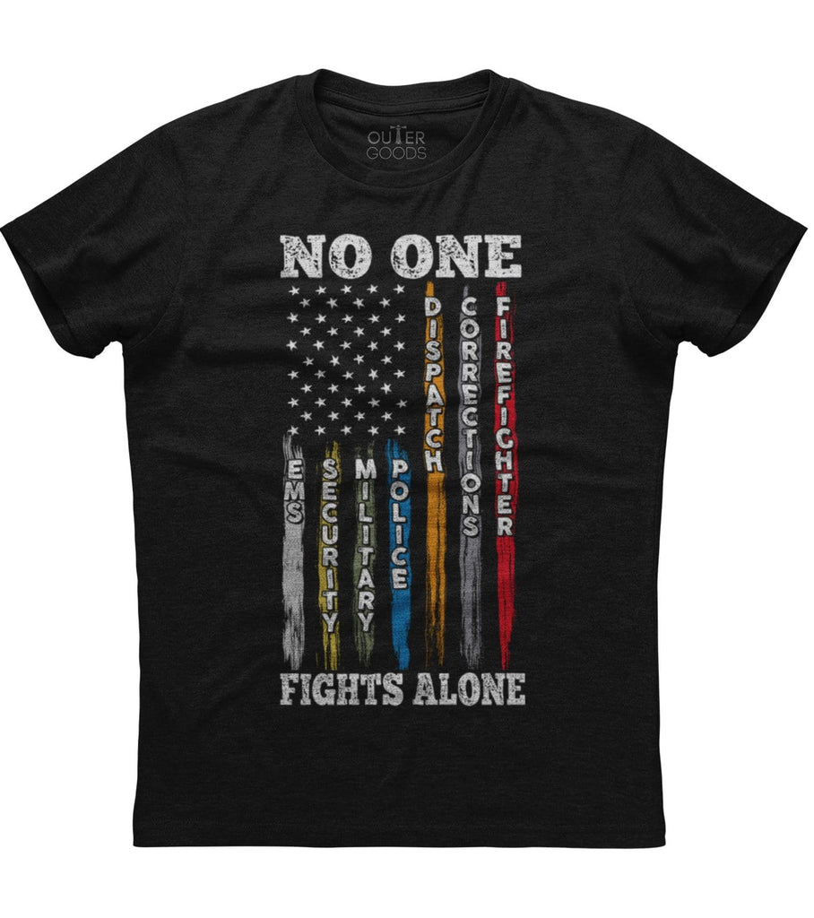 No One Fights Alone T-shirt (O)