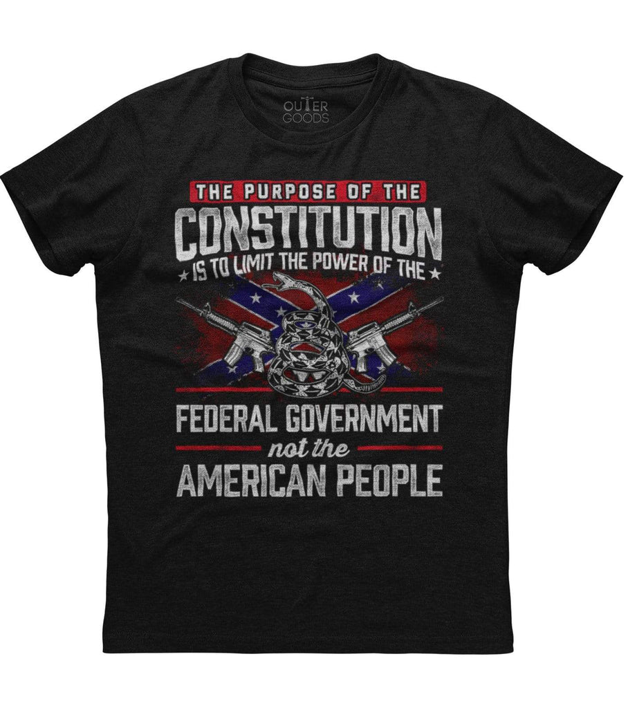 The purpose of the constitution is to limit the power T-shirt (O)