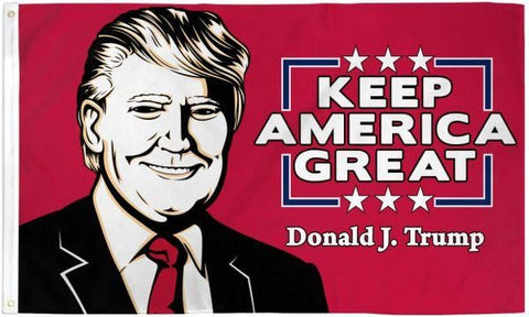 Trump (Keep America Great) Flag 3X5 ft. Poly
