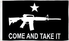 Come and Take It (Rifle) Black Flag 3x5ft Poly