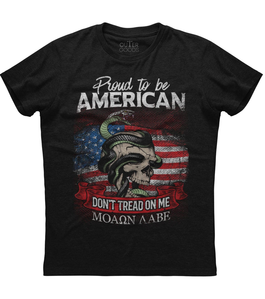 Proud to be American Don't tread on me T-Shirt (O)