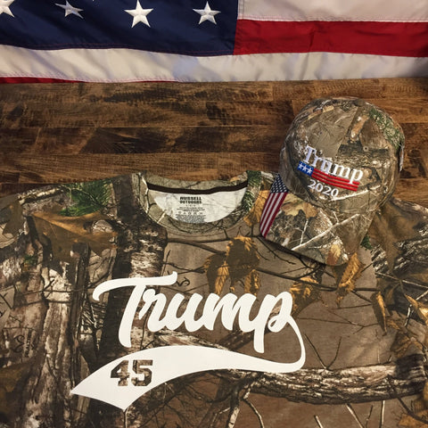 Donald Trump 2020 Make America Great Again Camo T-Shirt ( Free Trump 2020 Hat )