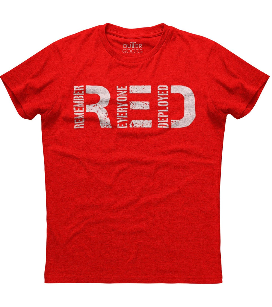 Remember Everyone Deployed Until They Come Back Home R.E.D T-Shirt (O)